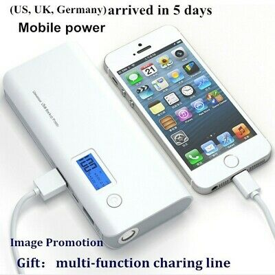 AU17.49 • Buy New Portable Power Bank Charger 100000mah LCD Display External Battery Pack Pro