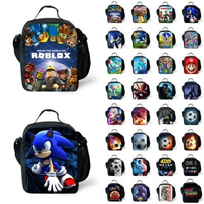 £10.99 • Buy Roblox Sonic Hedgehog Insulated Lunch Bag Snacks Bag Outdoor Picnic Bag Kid Gift