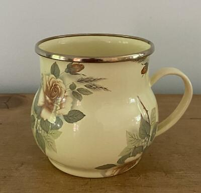 $24.95 • Buy Camp MacKenzie-Childs 1995 Yellow Roses Floral Enamel Large Mugs Cups 3.5