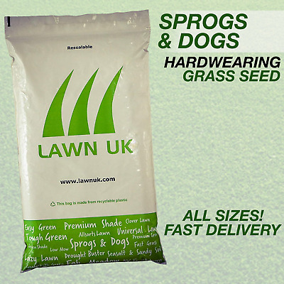 £31.40 • Buy SPROGS & DOGS  Ultra Hardwearing Grass Seed Durable Lawn Tough Garden Grow Quick