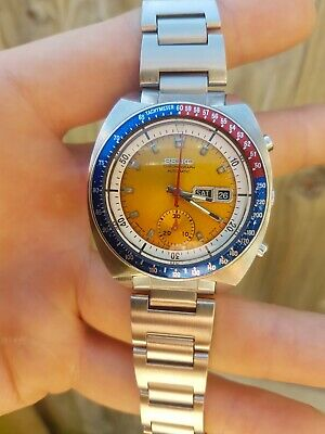 $ CDN522.79 • Buy  Rare Vintage Seiko 6139-6002 Pogue Day Date Chronograph Automatic Steel Watch