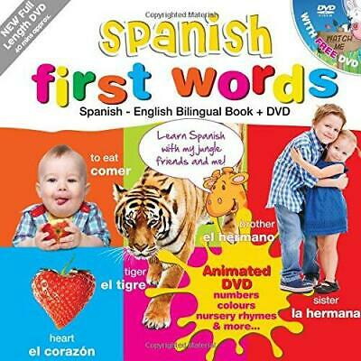 £8.60 • Buy Spanish For Kids First Words: Spanish-English Bilingual Book + DVD (Kids Learn L