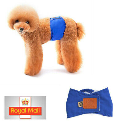 £4.33 • Buy Male Dog Puppy Belly Wrap Band Nappy Diaper Sanitary Holder Pants Underpant Bkue