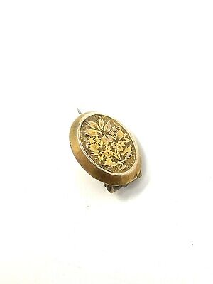 £5.50 • Buy Stunning Antique Victorian 9ct Yellow Gold 375 Fronted Dainty Brooch #586
