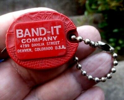 £1.75 • Buy Vintage 1960/70s Promotional Key Ring With Measuring Tape - Band It Company