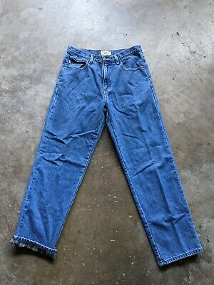 $34.95 • Buy LL Bean Natural Fit Mens 32x30 Blue Denim Straight Leg Flannel Lined Jeans