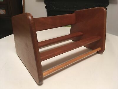 £35 • Buy Vintage Mid Century Wooden Book Stand / Book Trough