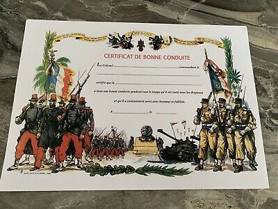 £15 • Buy French Foreign Legion Good Conduct Cert