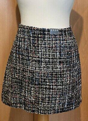 £5.99 • Buy BNWT Womens Knitted Tweed Effect Skirt Multi Coloured Size 16