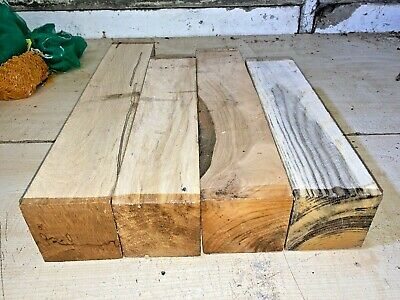 £37 • Buy 75mm Squares 4pcs Lot 745 Beech Cherry Sycamore Woodturning Timber Blank