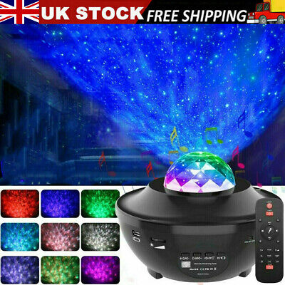 £9.99 • Buy Galaxy Star Night Lamp LED Starry Night Light Ocean Wave Projector With Music UK