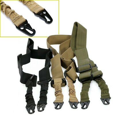 $13.99 • Buy Two-point Tactical Gun Rope Nylon Military Strap Crossbody Sling Lanyard Outdoor