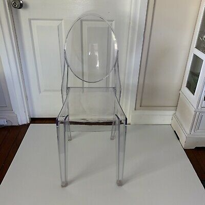 AU45.75 • Buy One Clear Plastic  Chair Replica Victoria Ghost Dining Chair - Clear