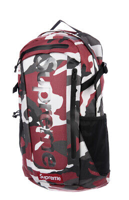 $ CDN343.30 • Buy New SS 2021 Supreme Red Camo Backpack SOLD OUT