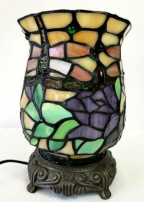 £69.99 • Buy VINTAGE TIFFANY LAMP STAINED GLASS BRASS 21 Cm KIND LIGHT 097
