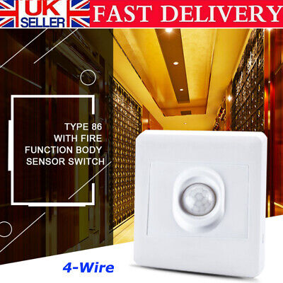 £8.51 • Buy Automatic Infrared PIR Body Motion Sensor Switch For LED Light Wall Mounted UK