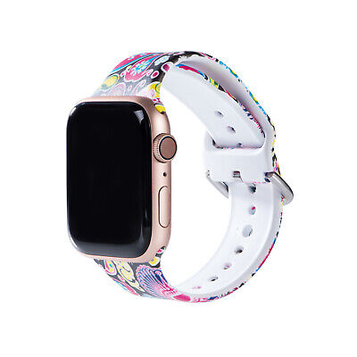 $ CDN6.63 • Buy For Apple Watch Series 1 2 3 4 5 6 Silicone Strap Band 44 42 40 38 Ladies Strap