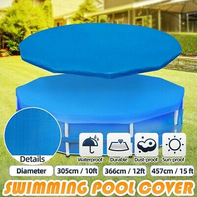 £19.89 • Buy 6/8/10/12ft Round Swimming Pool Cover For Outdoor Garden Frame Paddling Pools