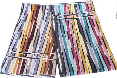 £53 • Buy MISSONI TWO BATH TOWELS COTTON JEFF  1 BLUE 1 BROWN BRANDED PACKAGING 70x115