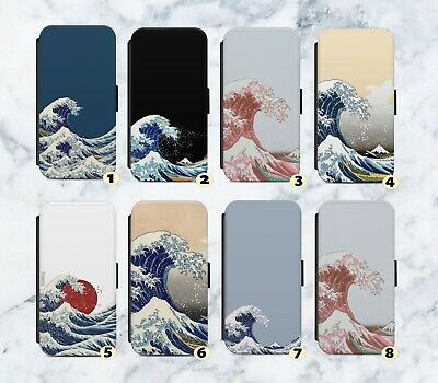 £9.99 • Buy Great Wave Of Kanagawa Faux Leather Flip Case Wallet For IPhone Samsung G87