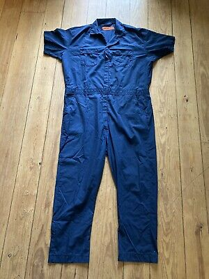 $30 • Buy Vintage Blue Jumpsuit Coveralls Red Kap Made USA Mens Size XXL Mechanic Hipster