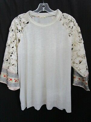 $ CDN30.83 • Buy ANTHROPOLOGIE TINY Floral  Lace Blouse 3/4 Sleeve Top Size XL ***SHIPS FREE***