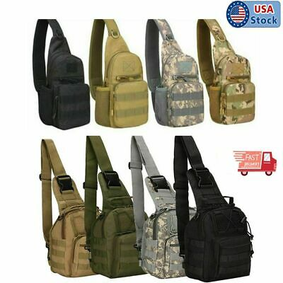 $13.99 • Buy Male Tactical Backpack Military Travel Camping Hiking Shoulder Chest Bag Outdoor