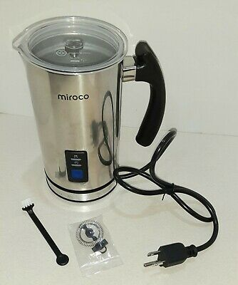 $5 • Buy Miroco Milk Frother, Electric Milk Steamer Stainless Steel, Automatic Hot