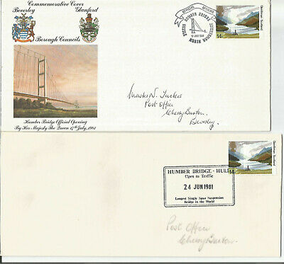 £0.40 • Buy Gb Fdc 1981 Official Opening Of The Humber Bridge-2 Covers With Insert