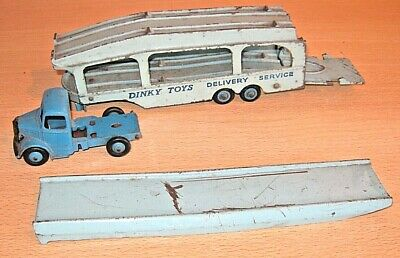 £12.27 • Buy DINKY Toys PULLMORE CAR TRANSPORTER With Bedford Cab & Ramp No.582 Playworn