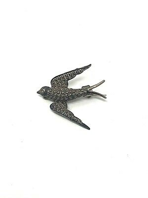 £1.20 • Buy A Lovely Antique Victorian Sterling Silver 925 Swallow Bird Design Brooch #7