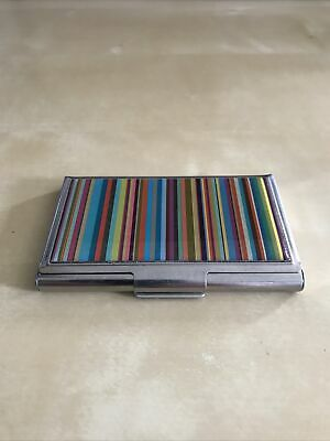 £14.50 • Buy Paul Smith Business Card Holder Stripped Vintage Metal Case