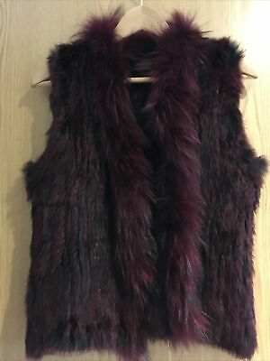 £30 • Buy Little Red Size Small Red Rabbit Fur Gilet