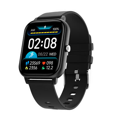 AU49 • Buy Bluetooth Smart Watch 1.7  2.5D Touch Monitor Heart Rate Blood Pressure - Black