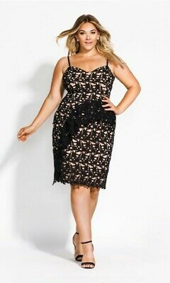 AU5 • Buy City Chic Size S Approx 16 Illustrious Dress Cocktail Evening Wedding Party