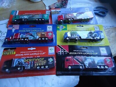£10 • Buy Bundle Of 6 Die Cast Lorries- From Germany2006 Fifa World Cup - All New And Seal