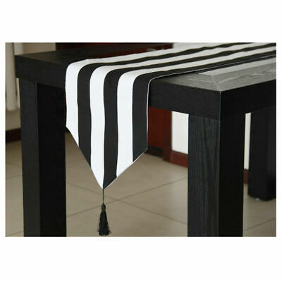 AU19.48 • Buy Chic Table Runner Elegant Dual-color Striped Home Kitchen Dining Room Mat Decor