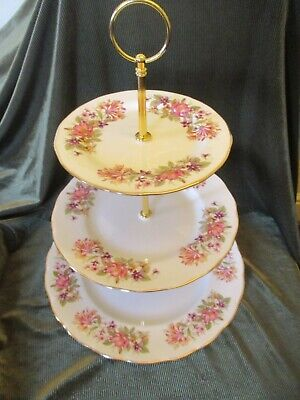£19.50 • Buy Pretty Colclough Plated 3 Tier Cake Stand Wayside Design