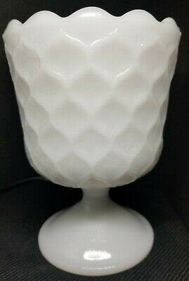 $2.39 • Buy E O Brody Co MJ-42 Pedestal Honeycomb Milk Glass Vase, 6 Inches Tall