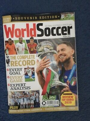 £7.50 • Buy World Soccer Magazine  August   2021    Review Of Euro 2020  & Copa America