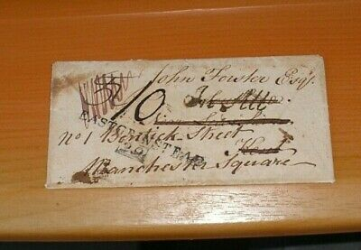 £5 • Buy 1812 Wrapper Folded Into Envelope Shape 'East Grinstead 29' Mileage  In All  H/s