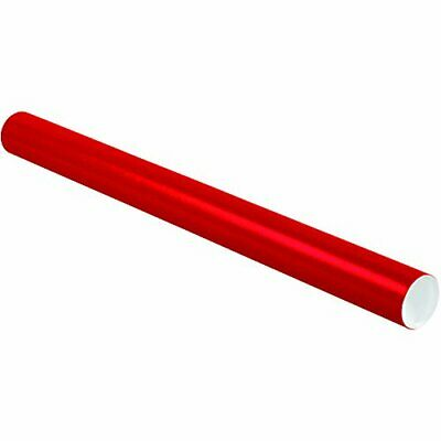 $103.40 • Buy Partners Brand PP3036R Mailing Tubes With Caps 3  X 36  Red Pack Of 24
