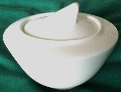 £6.99 • Buy New. Villeroy & Boch  Wonderful World  White China Sugar Bowl With Lid. Ht 2.5