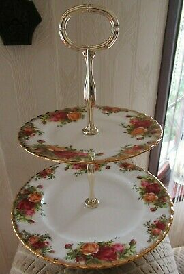 £17.95 • Buy Old Country Roses - Royal Albert -  2-tier Cake Stand.