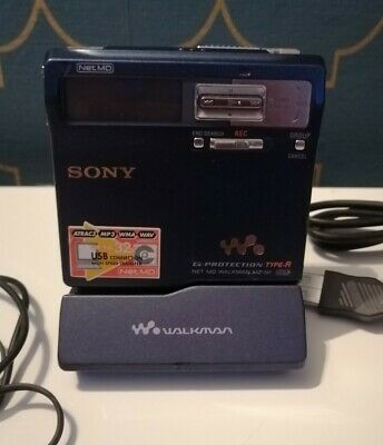 £129.99 • Buy Rare Blue Sony Net MD Walkman MZ-N1 Fully Working  Accessories Collectable