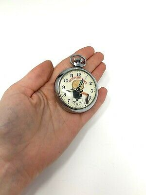 £16 • Buy Rare Vintage Guinness Time Automaton Great Britain Manual Wind Pocket Watch #043