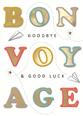 £3.79 • Buy Bon Voyage Good Luck Embellished Good Luck Greeting Card Just To Say Cards