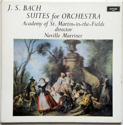 £9.80 • Buy J S Bach Suites For Orchestra Marriner ASMF 2 LP Box Oval Argo ZRG 687-8 NM