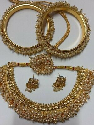 £14.99 • Buy Indian Pearl Necklace Set