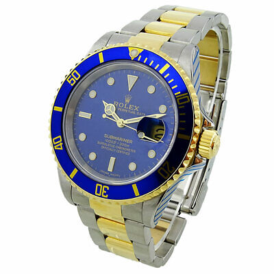 $ CDN18836.41 • Buy Rolex Submariner Date Steel And Gold Automatic Wristwatch 16613 *rolex Service*